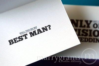 One Decision - Best Man - Marrygrams - Little Shop of WOW