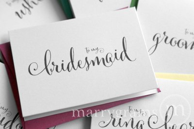 To My Bridesmaid Card - Marrygrams - Little Shop of WOW
