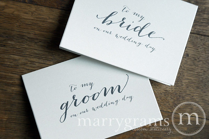 to my groom on our wedding day card little shop of wow