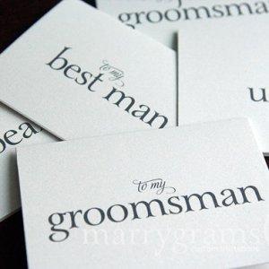 to my groomsman best man - marrygrams - little shop of wow