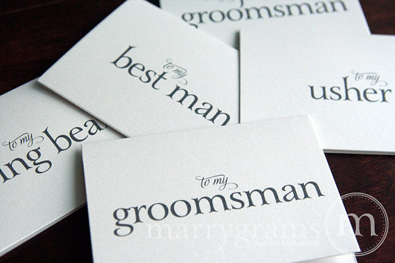 to my groomsman best man - marrygrams - little shop of wow