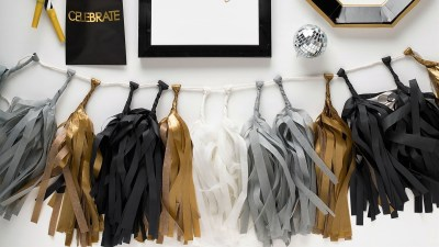 lets-get-cray-pret-a-party-box-little-shop-of-wow-adult-party-in-a-box-black-white-gold-tassle-banner-headbands-lets-party-tassel-banner-celebrate