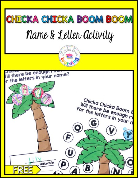 The Most Fun Chicka Chicka Boom Boom Activities Freebie