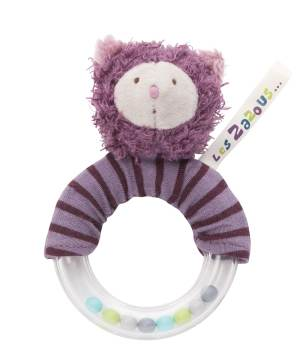 les zazous cat ring rattle