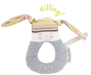rabbit ring rattle with jersey fabric