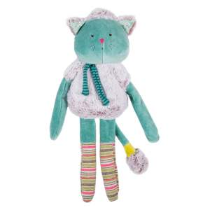 blue cat comforter - les pachats with long legs and plush fur