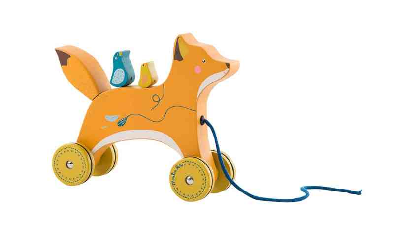pull along toys are great for physical development this fox pull along from the voyage d'olga range is perfect for challenging your child