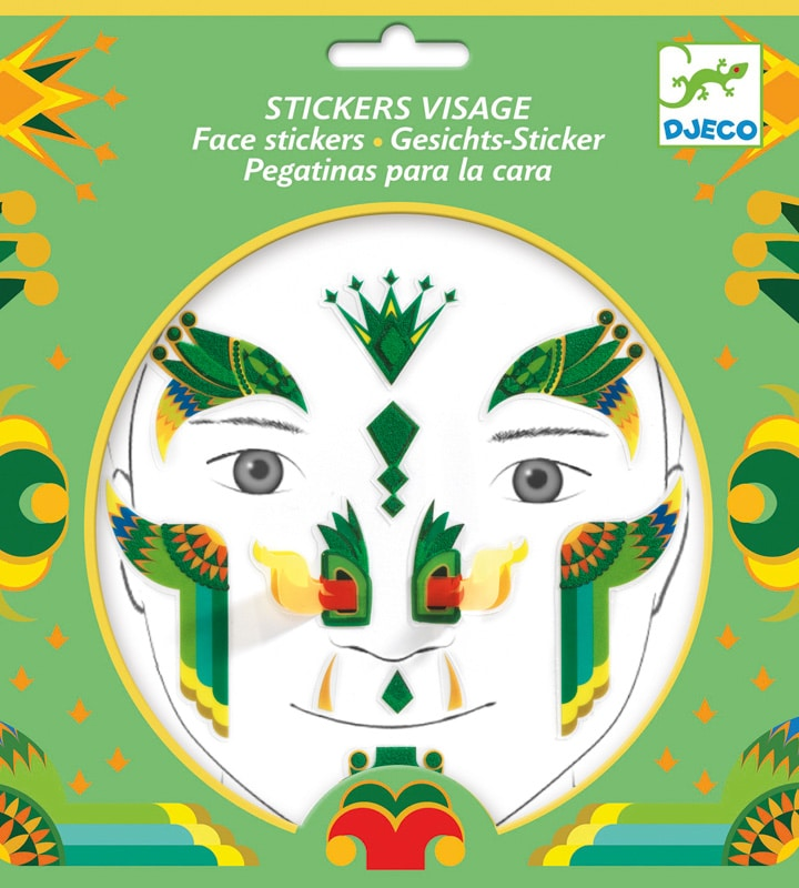 djeco dragon face stickers packaging for kids dress ups