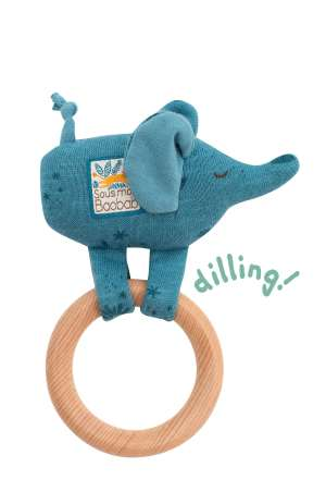 elephant baby rattle moulin roty