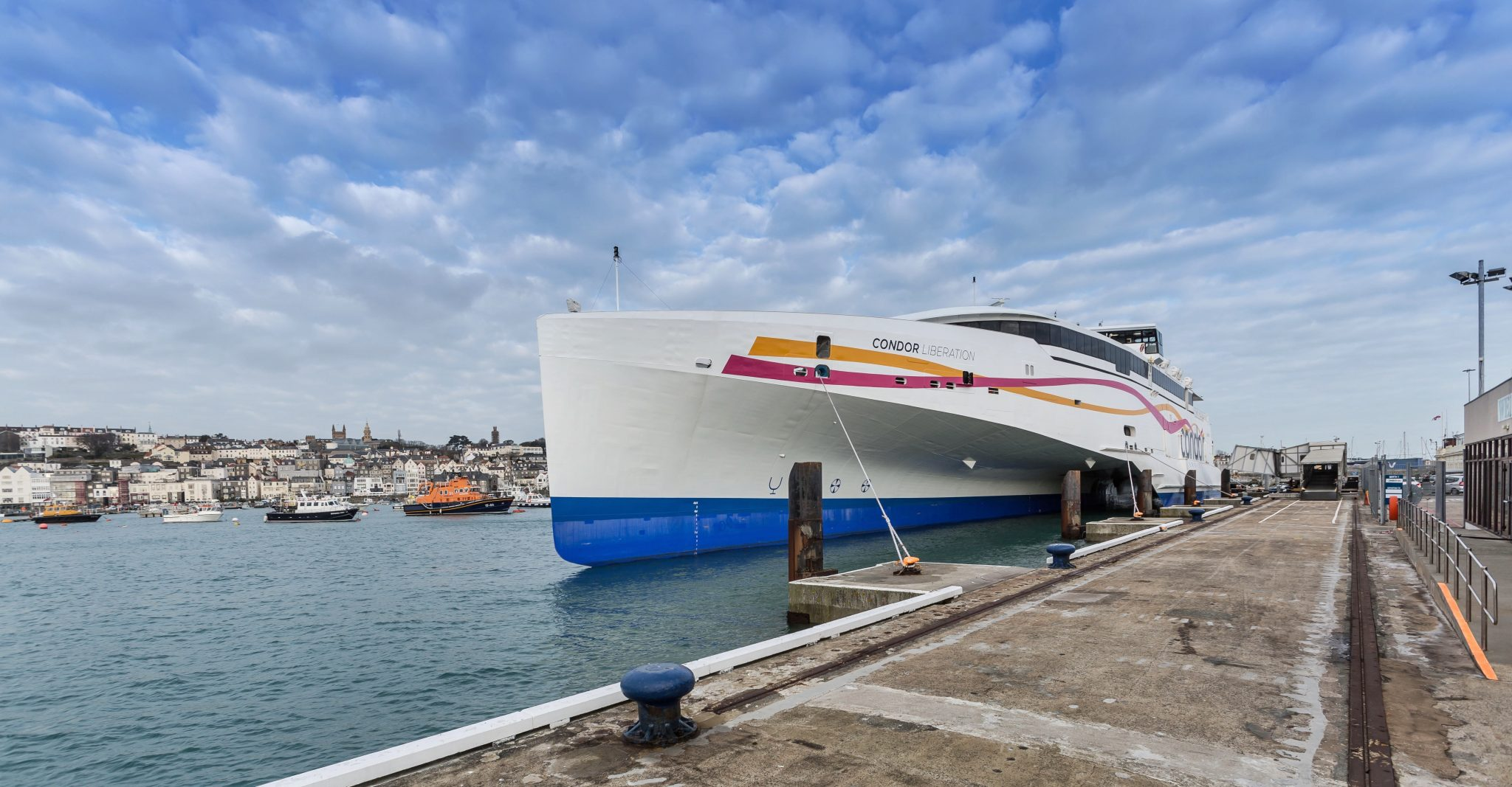 Condor Liberation first official visit to Guernsey and Jersey.