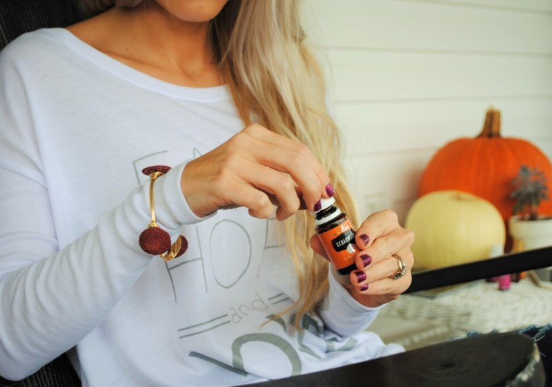 Lava rock bangles + Essential oils
