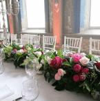 Wedding garland style table runners/arrangements