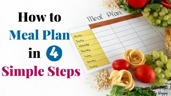 How to Meal Plan in 4 Simple Steps