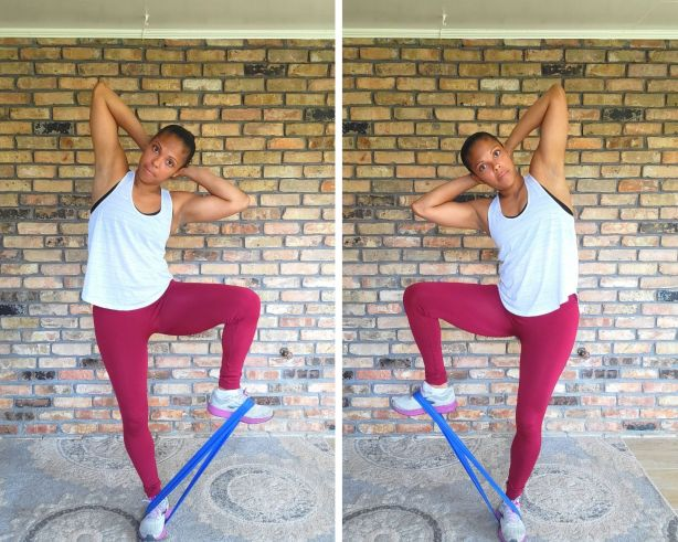 Standing Knee Raises with Resistance Band - Resistance Band Exercises for Abs