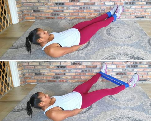 Scissors with resistance band - resistance band exercises for abs