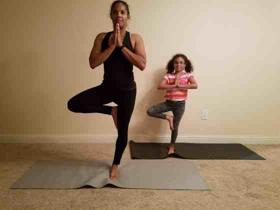 Family Friendly Yoga Routine: Tree Pose Right Side