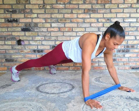Plank walks with Resistance Band - Resistance Band Exercises for Abs