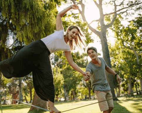 Summer Activities for Active Families: Walking on a Slackline