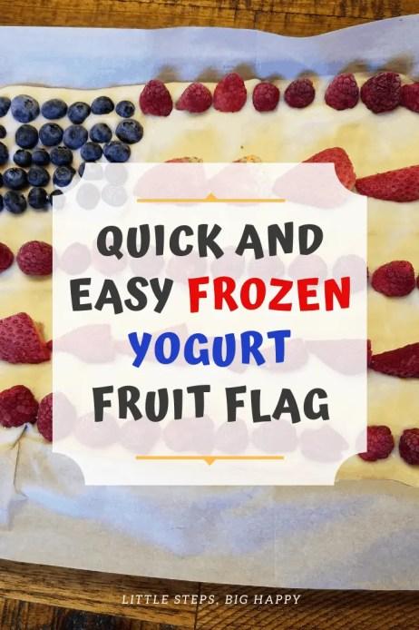Quick and Easy Frozen Yogurt Fruit Flag
