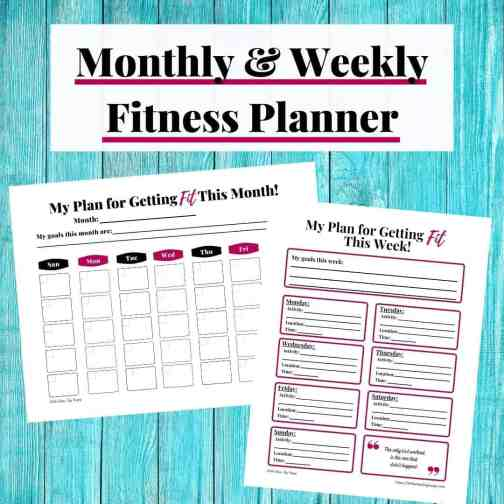 Monthly & Weekly Fitness Planner