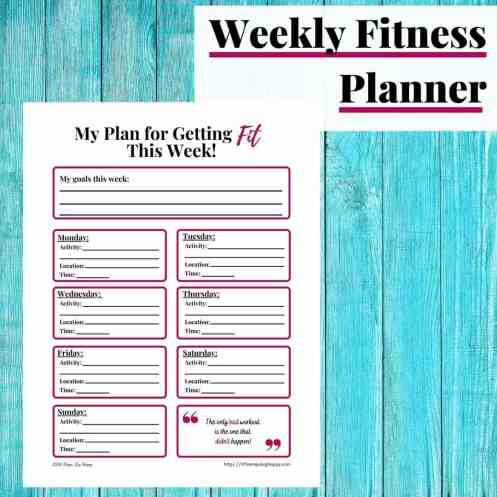 Weekly Fitness Planner