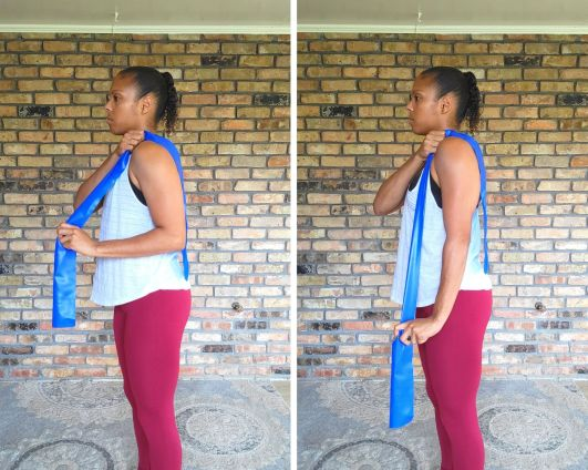 Tricep pulldown, long resistance band - Resistance Band Exercises for Arms