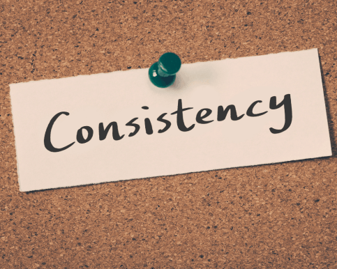 mindset tips for weight loss - consistency