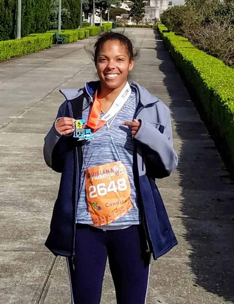 Fitness Motivation Ebook for Women - Half marathon finish photo