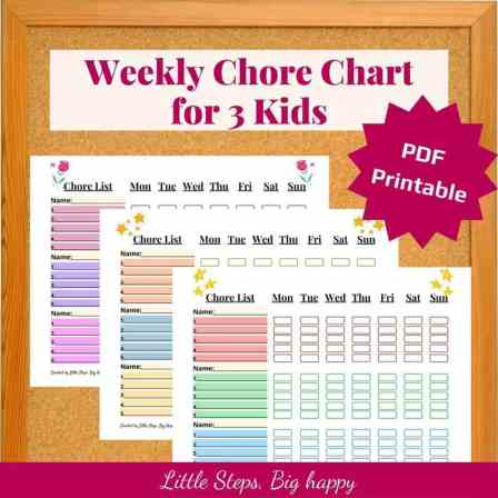 Chore chart for 3 kids - independence for kids