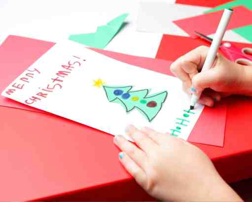 Indoor Christmas Activities for Families - Make Holiday Cards