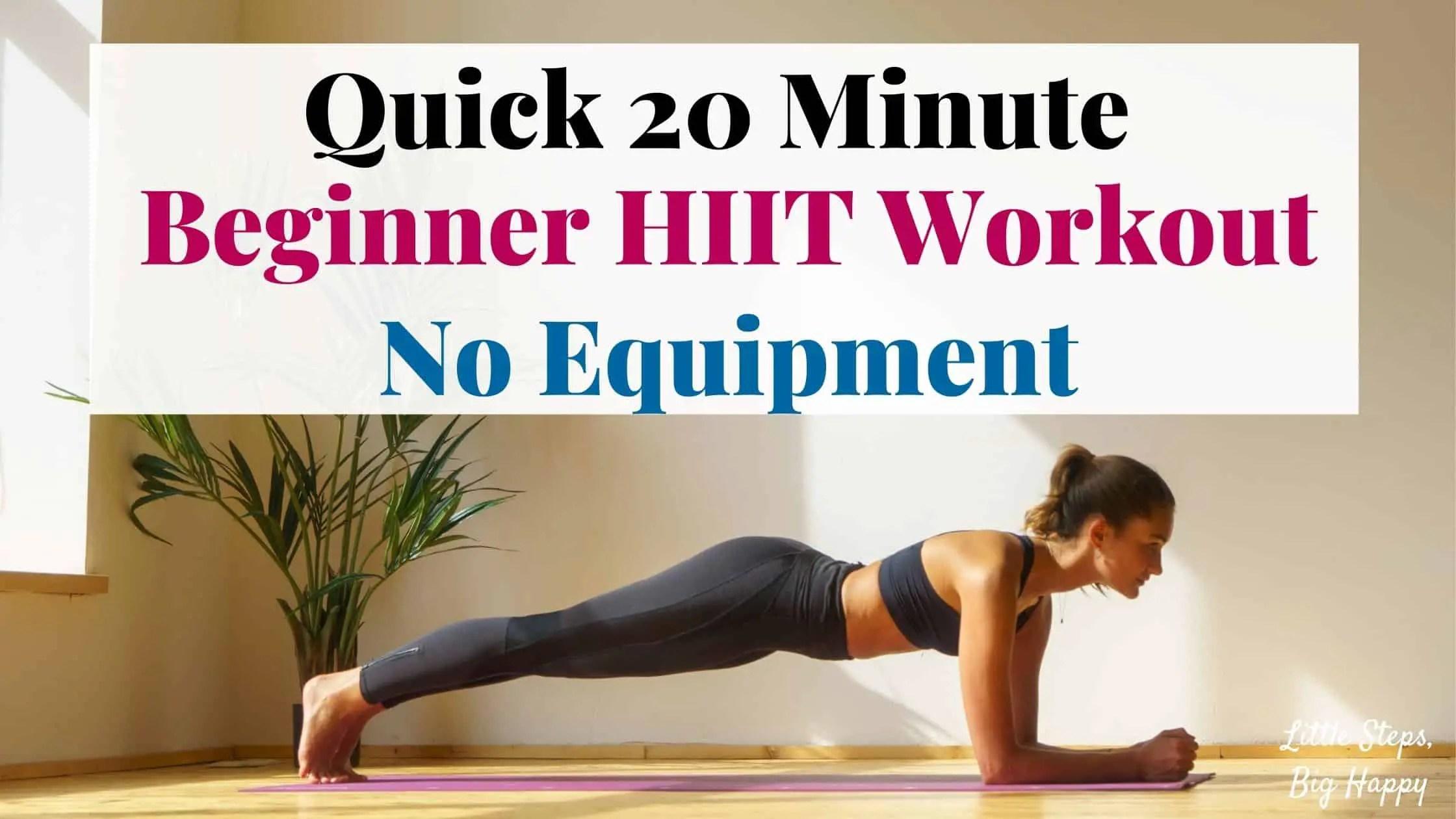 Quick 20 Minute Beginner HIIT Workout - No Equipment