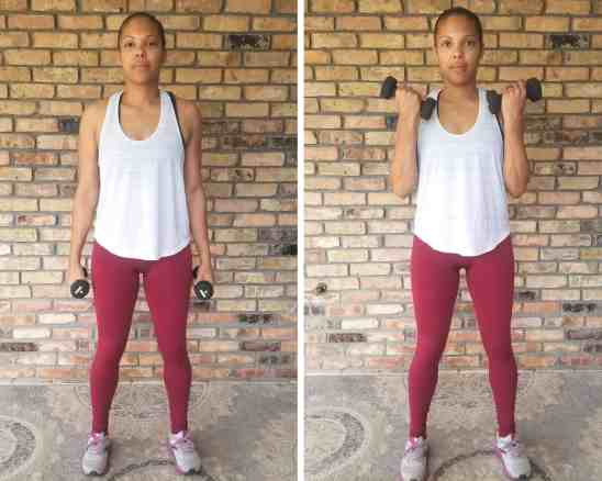 Bicep Curls - Need Some EMOM Workout Ideas? Try this EMOM Dumbbell Routine