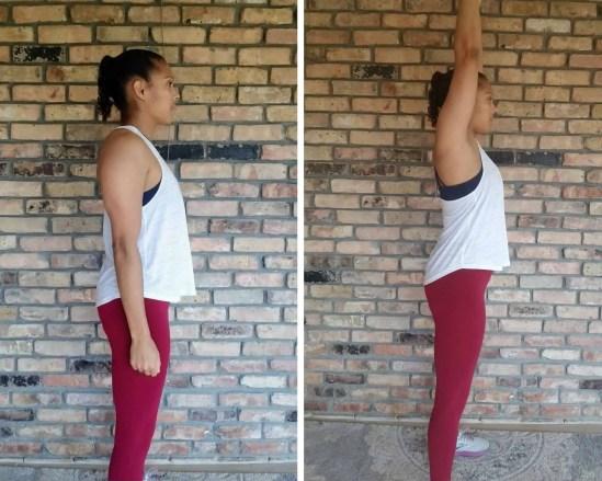 Overhead Arm Raises Beginner HIIT Workout No Equipment