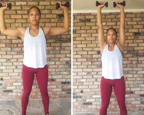 Overhead Press - Need Some EMOM Workout Ideas? Try this EMOM Dumbbell Routine