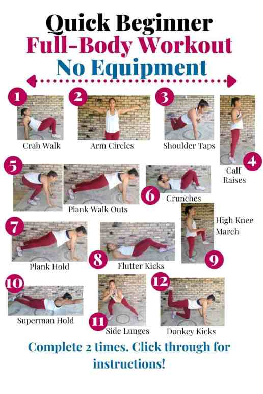 8 At Home Beginner Workouts For Women (Without Equipment)
