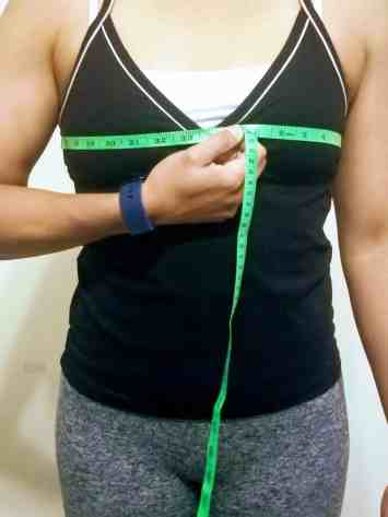 How to take body measurements for weight loss - chest