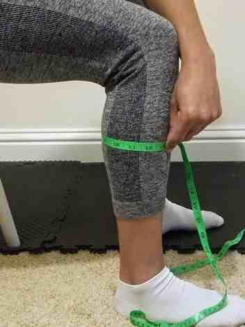 How to take body measurements for weight loss - calves