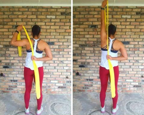 One arm shoulder press - Resistance band exercises for back and shoulders