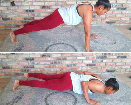 Push-Ups - Exercises for flabby arms