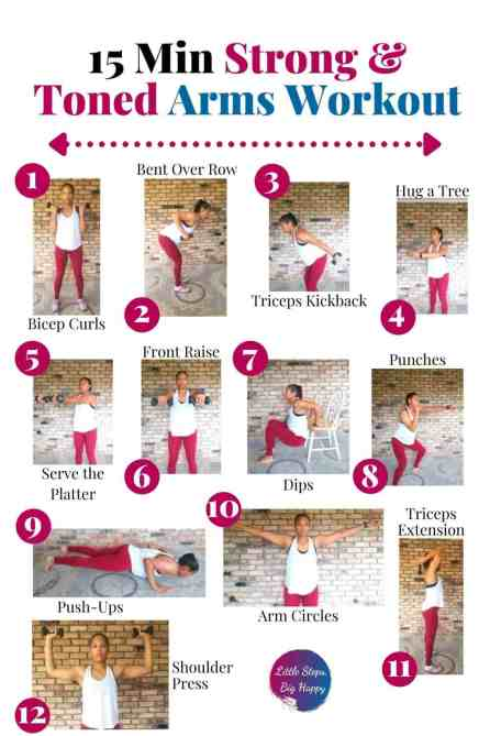 15 Min. Strong & Toned Arm Workout - Exercises for Flabby Arms