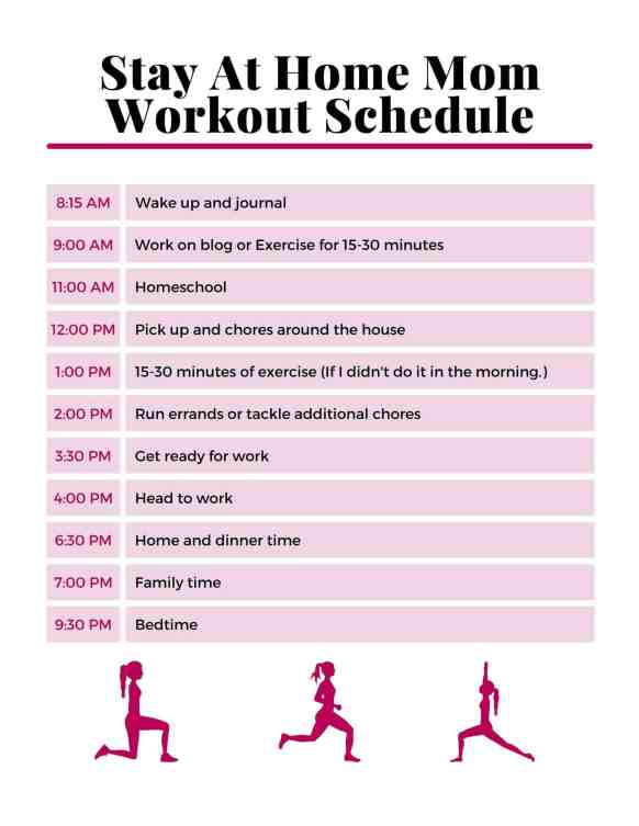 Stay At Home Mom Workout Schedule - How to find time to workout as a busy mom