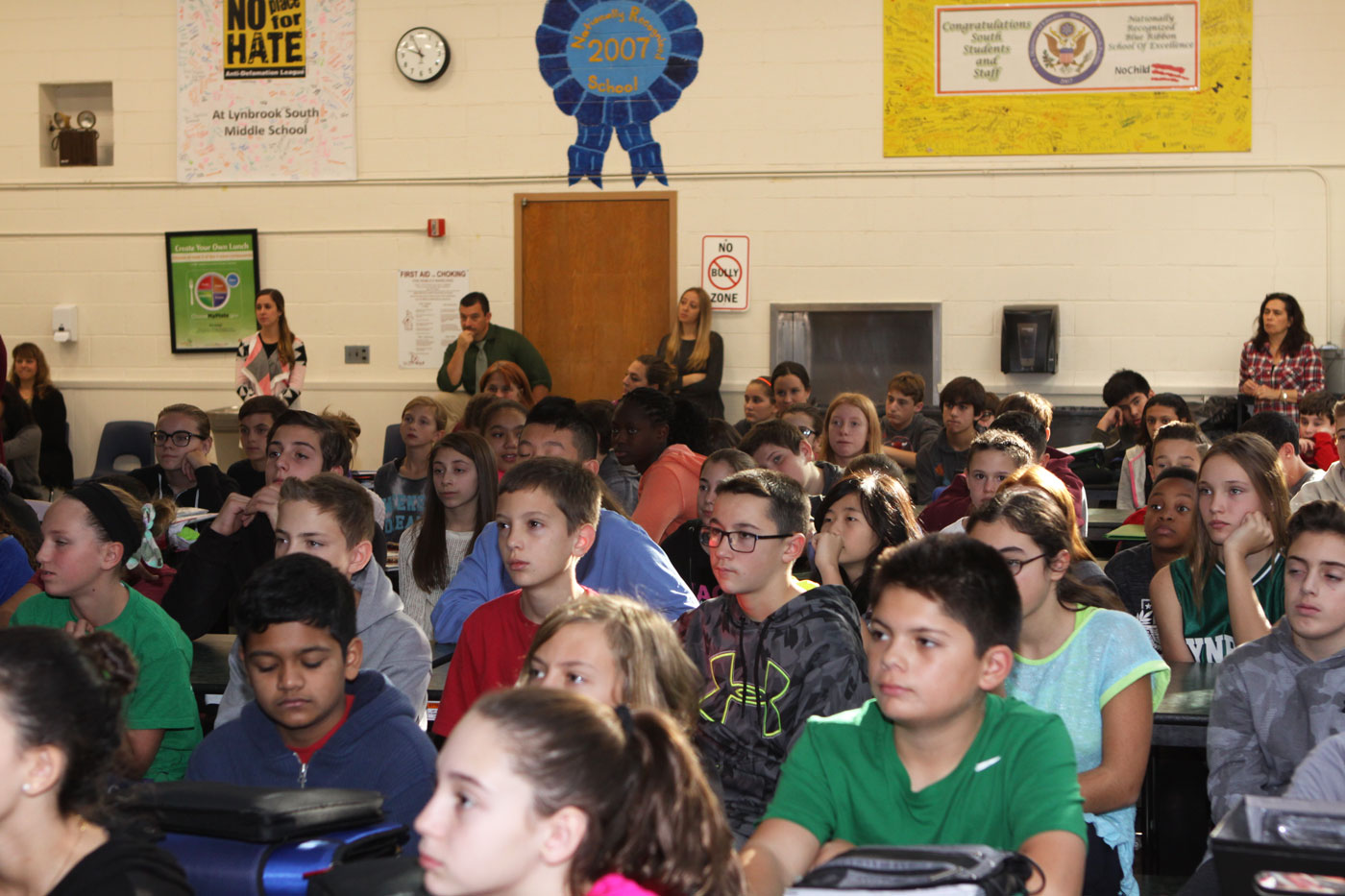 Ray Speaks To The Lynbrook South Middle School Little Saint Nick Foundation