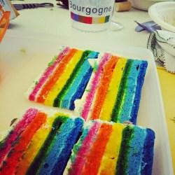 Le gâteau était aux couleurs de la Bourgogne !