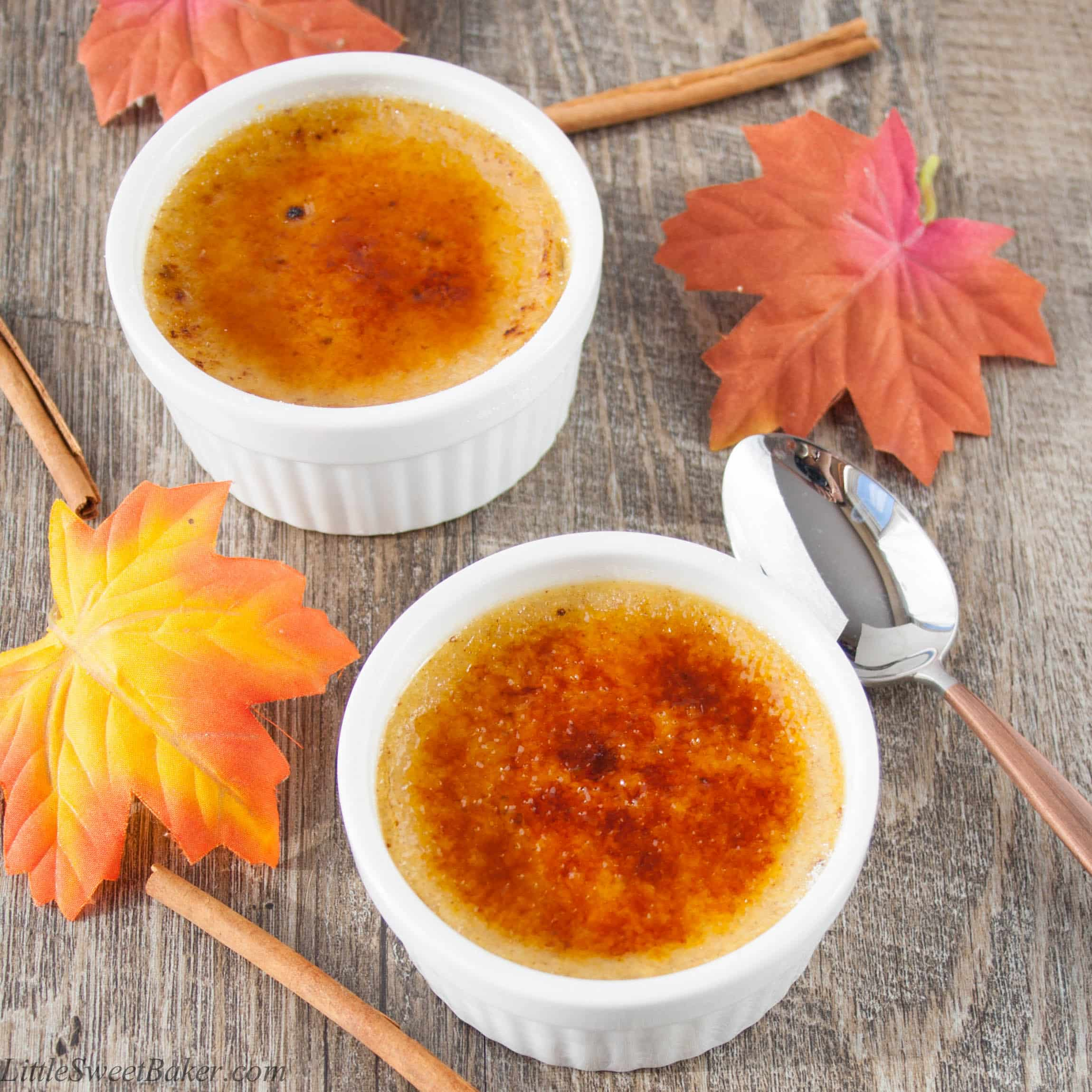 MAPLE SPICE CREME BRULEE. A creamy custard baked with a touch of ...
