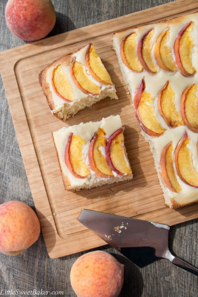 peach coffee cake and coffee cake sweet baker 6402