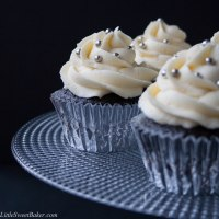 Dark Chocolate Cupcakes with White Chocolate Buttercream