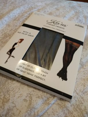 Kix'ies Lois Back Seam Stockings with No-Slip Grip