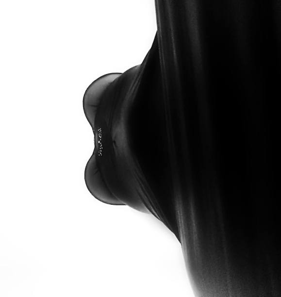 an image of me , sideways, edited in black and white for my sinful sunday post called what you see
