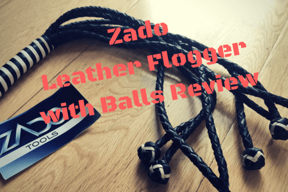 ZADO Leather Flogger with Balls