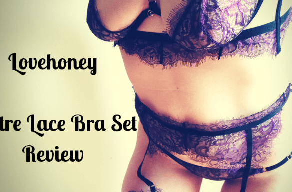 Title image for the Lovehoney Lustre Purple Bra Lace Set